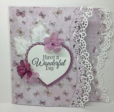 Card with the new stamp and die set from Heartfelt Creations - Butterflies dream