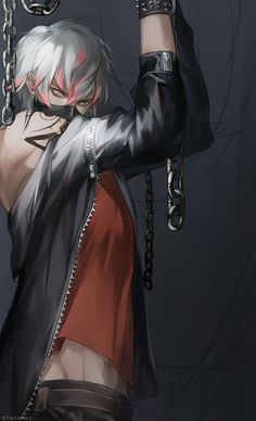 "taba-fumi: ""idk why but i thought of this concept where Unknown is chained oops but sexy """