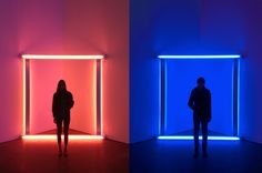 Yulu and I went to the Dan Flavin exhibit at David Zwirner today.
