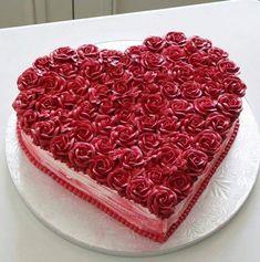 Cake Icing, Buttercream Cake, Valentine Cake, Valentines Day, Valentine Ideas, Cake Art, Art Cakes, Cake Pictures, Cake Shop