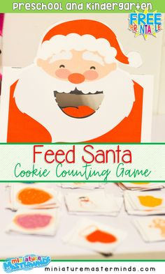 Feed Santa Cookies Free Printable Counting Activity For Preschool and Kindergarten ⋆ Miniature Masterminds – Abby Cockerham – art therapy activities