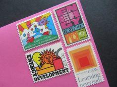 Vintage Postage Stamps