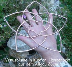 Venusblume+in+Kupfer+26+cm+Durchmesser+Handarbeit+von+Kunsthoeger+auf+DaWanda.com