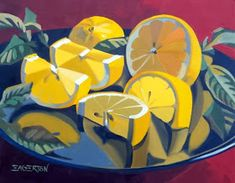 Elliott Fouts Gallery: Oktober Das Stillleben - Merys Stores - Elliott Fouts Gallery: October The Still Life - Painting Inspiration, Art Inspo, Art Watercolor, Fruit Painting, Guache, Pretty Art, Art Tutorials, Painting & Drawing, Gouache Painting