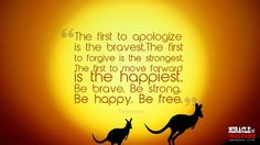 The first to apologize is the bravest..