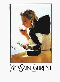 Elaine for Yves Saint Laurent, by Arthur Elgort, 1990
