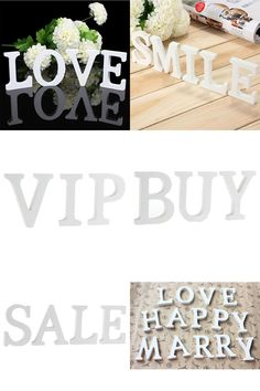 [Visit to Buy] English LettersA-Z-& Craft Wood Wooden Letters Bridal Wedding Party Birthday Toys Home Decorations #Advertisement