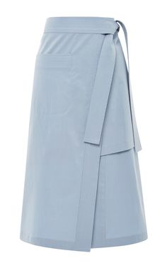 Blue Layered Split Skirt by Suno