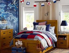 I love the Pottery Barn Kids Pirate Bedroom on potterybarnkids.com
