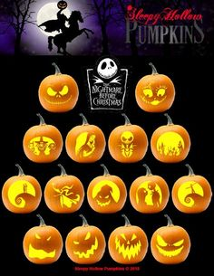 Printable PDF with Pumpkin Carving Patterns for Hocus Pocus. Includes 15 unique patterns and instructions. This is Halloween! Jack, Sally, Zero, Oogie Boogie and more. Patterns included for varying skill levels. Disney Pumpkin Stencils, Printable Pumpkin Stencils, Halloween Pumpkin Carving Stencils, Halloween Pumpkin Designs, Pumpkin Template, Pumpkin Carving Templates, Halloween Jack, Jack Skellington Pumpkin Carving, Minion Pumpkin Carving
