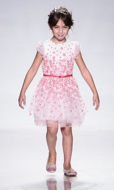Dress and shoes by Simonetta with Swarovski crystals, at petitePARADE NY Kids Fashion Week 2012 in collaboration with Vogue Bambini, John Parra for Getty Images
