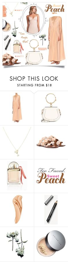 """Sweet Peach Look"" by mimapova ❤ liked on Polyvore featuring Kalita, Chloé, Aliita and Burberry"