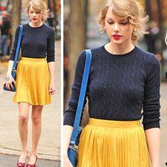 Keds Polka Dot Pleated Mini Skirt Polka dot print skirt, super cute fit, best fits small/medium, elastic waist, no flaws. Color is shown in last three pics, first photo shows very similar STYLE and FIT as seen on Taylor Swift. BUNDLE AND SAVE!! keds Skirts Mini
