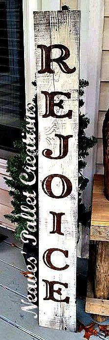 Wood Profits - RECYCLED WOOD PALLETS: This tall, 48 sign, is 6 wide and announces to your friends and family what the Christmas Season stands for. We should all rejoice at the glorious birth of Jesus. This sign can be taken inside by the fireplace or left outside by the front door, either place the message comes across. We are selling this sign for $22. Send us a message if you would like one for your home. Item#825 -  Discover How You Can Start A Woodworking Business From Home Easily ...