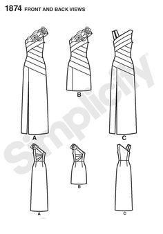 Simplicity 1874 Creative Group - Misses' Dresses