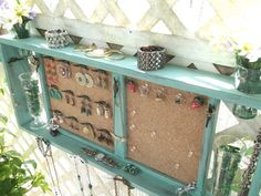 jewellery holder using an old ladder