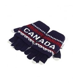 Navy & White Canada 2 In 1 Gloves Winter Collection 2016