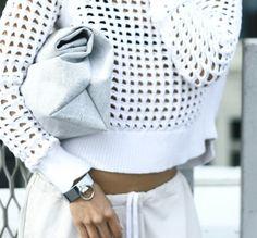 all white / mesh