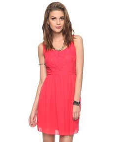 Plunging Back Swing Dress | FOREVER21 - 2000042319