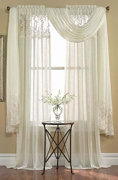 14 Best Scarf Valance Images Windows Living Room Curtains