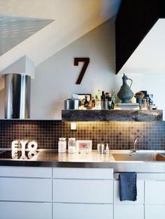 Jimmy Schönning's apartment in Stockholm #kitchen