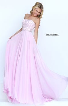 Sherri Hill 50039 Long Strapless Open Back Beaded Pink Prom Dresses 2016 Backless Homecoming Dresses, Prom Dresses Long Pink, Prom Dresses 2016, Sherri Hill Prom Dresses, Prom Dresses Online, Pageant Dresses, Pretty Dresses, Beautiful Dresses, Formal Dresses