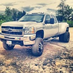 nicely lifted Chevy truck