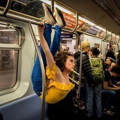How I ride the New York City subway . . @jordanmatter
