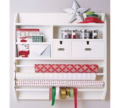 Look what's back in stock just in time for the holidays - Wall-Mounted Craft Organizer from Pottery Barn