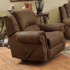 Rawlinson Rocker Recliner Brown Coated Microfiber : reclining chair repair - islam-shia.org