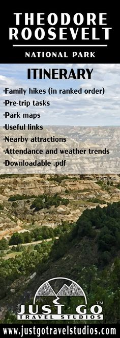 Our Theodore Roosevelt National Park itinerary is packed full of information to help kick start your planning.  We include detailed hiking information, maps, links to useful information and a pre-trip checklist.