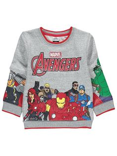 Boys Marvel Avengers Long Sleeve Character T-Shirt
