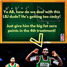 AB knows how to stop LBJ. #Celtics #CelticsNation #CelticsTalk #BleedGreen #Boston #Sports #Memes #Humor #CelticsCavs #CelticsvsCavs #NBAplayoffs2017 #NBA #Basketball #DefendTheLand #Cavs #CavsNation #LBJ #LeBronJames #AveryBradley