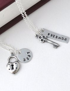 BFF Lock & Key Friendship  Necklace Set ♥ L.O.V.E. it!