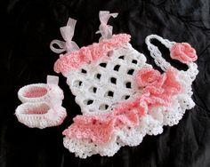 Häkeln Baby Kleid Schuhe Stirnband Set New born von paintcrochet