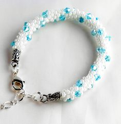 Bracelet beaded kumihimo Wedding pearls and by TerrysJewelryStop, $30.00