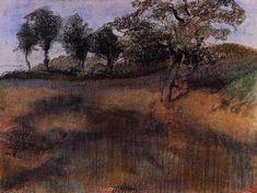 Plowed Field by @edgar_degas #impressionism