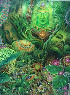 Ayahuasca, the vine of the Skies.strange images, inside my head were a natural part of the medication I was forged to ingest during my years on the psyche wards after being misdiagnosed. Fantasy Kunst, Fantasy Art, Sacred Plant, Psy Art, Mystique, Art Graphique, Visionary Art, Psychedelic Art, Sacred Geometry