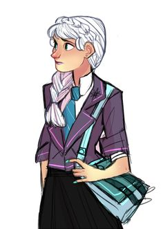 by starfleetbabe: elsa modern au Frozen And Tangled, Elsa Frozen, Disney Frozen, Frozen Stuff, Disney Style, Disney Love, Disney Art, Elsa Hair, Disney High