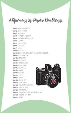 Growing Up Photo Challenge