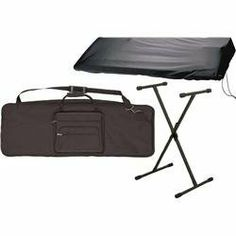 Musician's Gear 61 Key Stand and Cover Package (Standard) by Musician's Gear. $39.99. This Stand and Cover Package includes a 61-key Keyboard Gig Bag, a Standard Keyboard Stand and a 61 and 76 Key Stretchy Keyboard Cover.61-key Keyboard Gig Bag Outer covering is heavy-duty 440D twill nylon to lock out dirt and spills. Inside, foam padding absorbs the bumps of normal handling. Edges and handles are made of thick parachute webbing for extra strength and durability. Includes c...