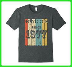 Mens 1977 Classic Vintage T-Shirt 40 yrs old Bday 40th Birthday  3XL Dark Heather - Birthday shirts (*Amazon Partner-Link)