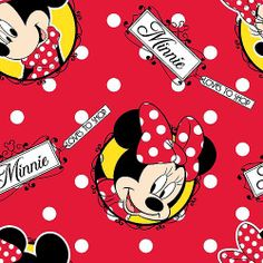 Springs Creative Disney Mickey Everyday Minnie Loves To Shop Badges Fabric by the Yard: Crafts : Walmart.com