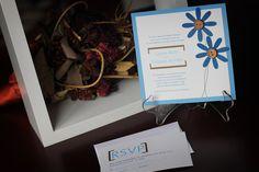 Daisy Wedding Invitation  Modern daisies by ImpressionsByKrystal
