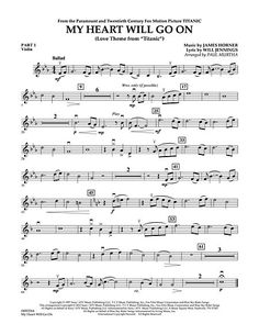 My Heart Will Go On (Love Theme from Titanic) - Pt.1 - Violin