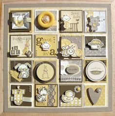 stampin up framed punch art samplers , link to a nice green one Collage Frames, Box Frames, Wooden Frames, 3d Paper Crafts, Paper Art, Paper Collages, Diy Projects To Try, Craft Projects, Stampin Up Ostern