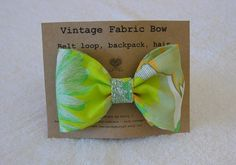 Retro Green & Orange Fabric Hair Bow by DesignsByMistyT on Etsy, $11.95