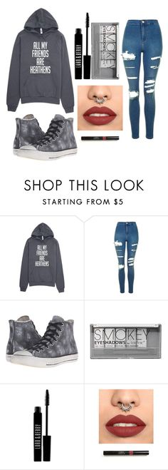 """""""Untitled #53"""" by natacharizk-1 ❤ liked on Polyvore featuring Topshop, Converse, Boohoo and Lord & Berry"""
