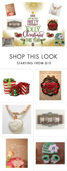 """""""Holly Jolly Christmas Guide"""" by elsiescreativedesign ❤ liked on Polyvore featuring interior, interiors, interior design, home, home decor, interior decorating, giftforher, giftsforwomen, epiconetsy and EtsyTeamUnity"""