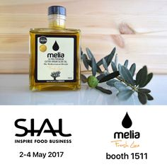 At our booth 1511 at #SIAL CANADA #Food #Expo 2017, you can taste Melia Freshline's unique and #biological Extra Virgin #Greek #OliveOil!  Visit us!  (* to get your invitation for SIAL 2017, contact us at +16472933022)